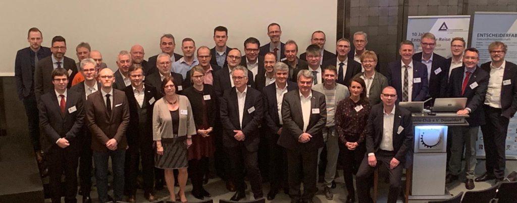 Gruppenfoto der Teams der 5 Digitalisierungsthemen der Gesundheitswirtschaft 2018